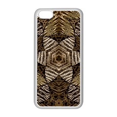 Golden Animal Print  Apple iPhone 5C Seamless Case (White)