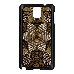 Golden Animal Print  Samsung Galaxy Note 3 N9005 Case (Black)