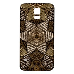 Golden Animal Print  Samsung Galaxy S5 Back Case (White)