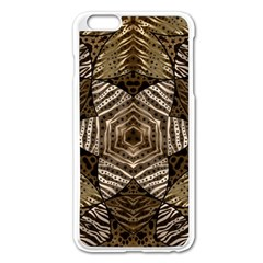 Golden Animal Print  Apple iPhone 6 Plus Enamel White Case