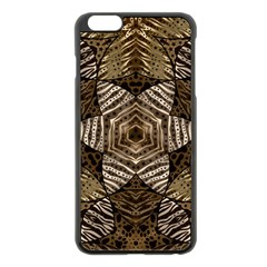 Golden Animal Print  Apple iPhone 6 Plus Black Enamel Case