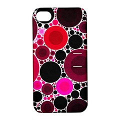 Retro Polka Dot  Apple Iphone 4/4s Hardshell Case With Stand