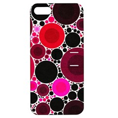 Retro Polka Dot  Apple Iphone 5 Hardshell Case With Stand