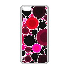 Retro Polka Dot  Apple Iphone 5c Seamless Case (white)
