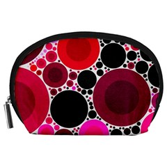 Retro Polka Dot  Accessory Pouch (large)