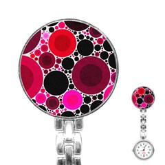 Retro Polka Dot  Stainless Steel Nurses Watch