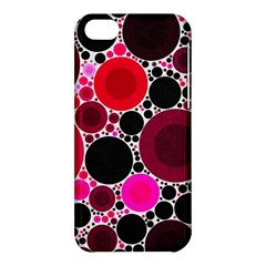 Retro Polka Dot  Apple Iphone 5c Hardshell Case