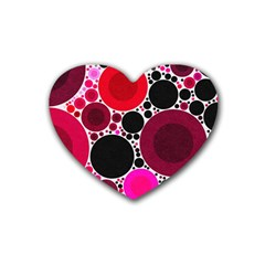 Retro Polka Dot  Drink Coasters (heart)