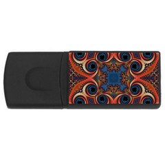 Beautiful Fractal Twirls  4gb Usb Flash Drive (rectangle)