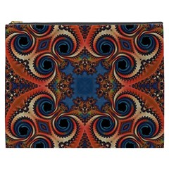 Beautiful Fractal Kelidescopee  Cosmetic Bag (xxxl)