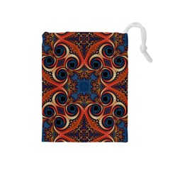 Beautiful Fractal Kelidescopee  Drawstring Pouch (Medium)