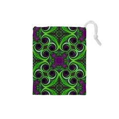 Purple Meets Green Drawstring Pouch (small)
