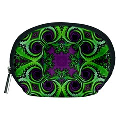 Purple Meets Green Accessory Pouch (medium)