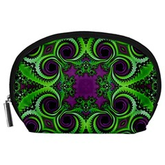 Purple Meets Green Accessory Pouch (large)