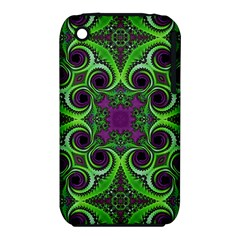 Purple Meets Green Apple iPhone 3G/3GS Hardshell Case (PC+Silicone)