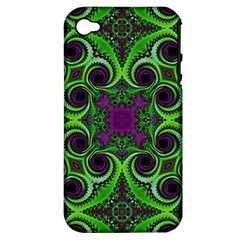 Purple Meets Green Apple Iphone 4/4s Hardshell Case (pc+silicone)
