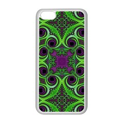 Purple Meets Green Apple iPhone 5C Seamless Case (White)