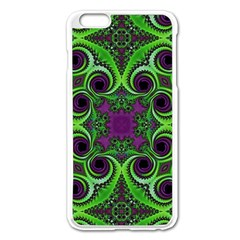 Purple Meets Green Apple Iphone 6 Plus Enamel White Case