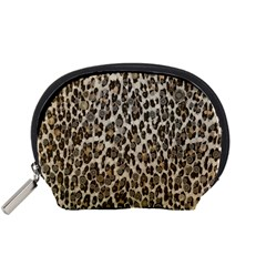 Chocolate Leopard  Accessory Pouch (Small)
