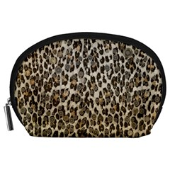 Chocolate Leopard  Accessory Pouch (large)