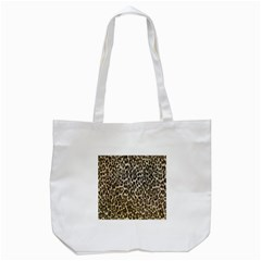 Chocolate Leopard  Tote Bag (White)