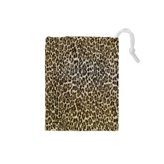Chocolate Leopard  Drawstring Pouch (Small)