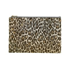 Chocolate Leopard  Cosmetic Bag (large)