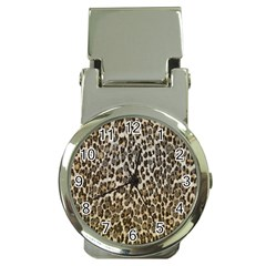 Chocolate Leopard  Money Clip With Watch