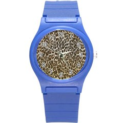 Chocolate Leopard  Plastic Sport Watch (small)
