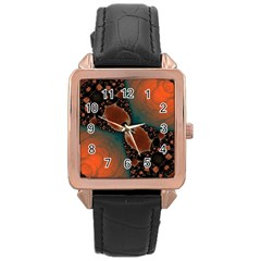 Elegant Delight Rose Gold Leather Watch