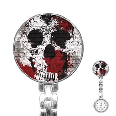 Skull Grunge Graffiti  Stainless Steel Nurses Watch