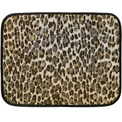 Chocolate Leopard  Mini Fleece Blanket (Two Sided)