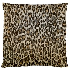 Chocolate Leopard  Large Cushion Case (two Sided)