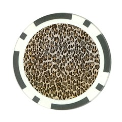 Chocolate Leopard  Poker Chip (10 Pack)