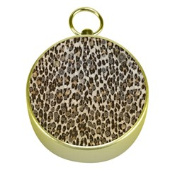 Chocolate Leopard  Gold Compass