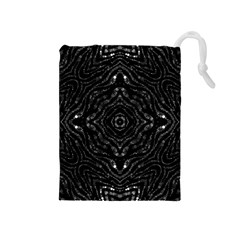 Black Drawstring Pouch (Medium)