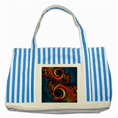 Dragon  Blue Striped Tote Bag