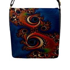 Dragon  Flap Closure Messenger Bag (large)