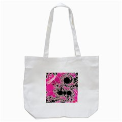 Pink Cotton Kandy  Tote Bag (White)