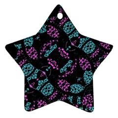 Ornate Dark Pattern  Star Ornament