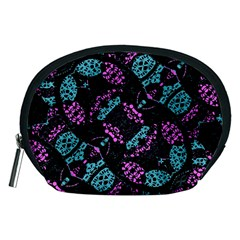 Ornate Dark Pattern  Accessory Pouch (medium)