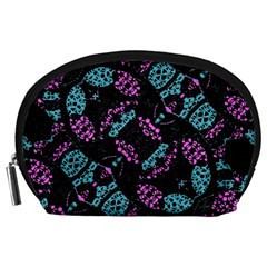 Ornate Dark Pattern  Accessory Pouch (Large)