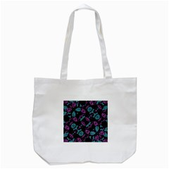 Ornate Dark Pattern  Tote Bag (white)