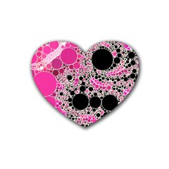 Pink Cotton Kandy  Drink Coasters (heart)