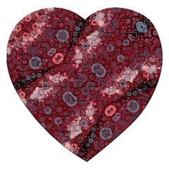 Burgundy Blues Jigsaw Puzzle (heart)