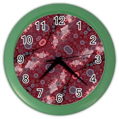 Burgundy Blues Wall Clock (color)