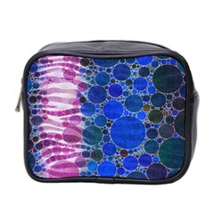 Crazy Zebra  Mini Travel Toiletry Bag (two Sides)