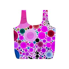 Bubble Gum Polkadot  Reusable Bag (s)