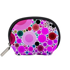 Bubble Gum Polkadot  Accessory Pouch (Small)