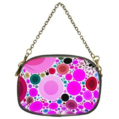 Bubble Gum Polkadot  Chain Purse (one Side)